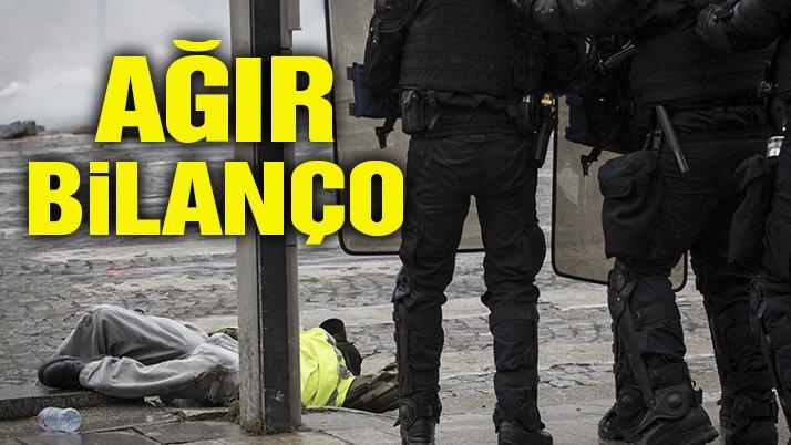 Fransa'da dünkü gösterilerde 242 gözaltı!