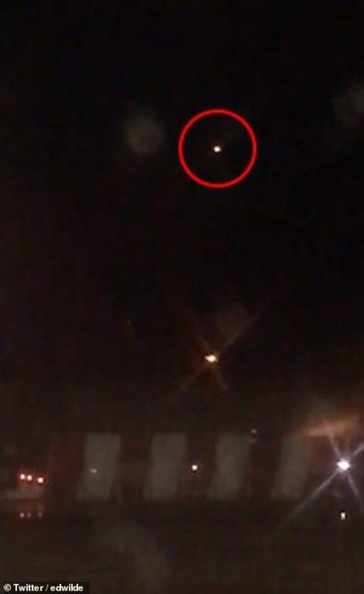 Drone'lar gece böyle görüntülendi.