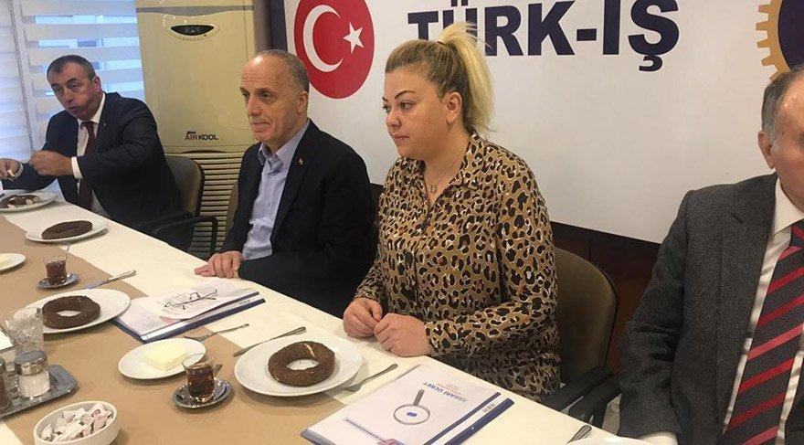 TÜRK-İŞ'te düzenlenen toplantıda Gülden Görmez basın mensuplarının sorularını yanıtladı. Fotoğraf: Yavuz Alatan