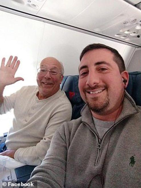 Babanın sosyal medyada yayılan fotoğrafı.