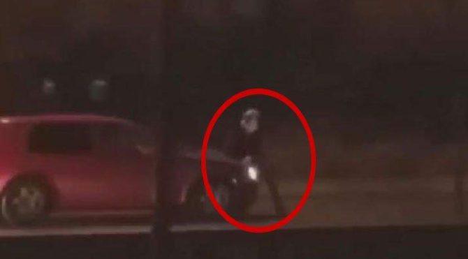 Ankara'dan tepki çeken görüntü: Otomobili kadının üzerine sürdü!