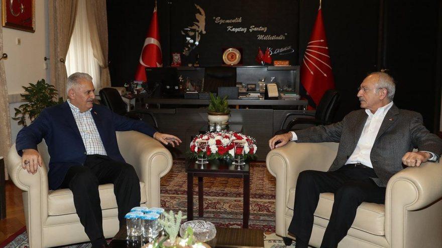 TBMM Başkanı Yıldırım ile Kılıçdaroğlu ile görüştü