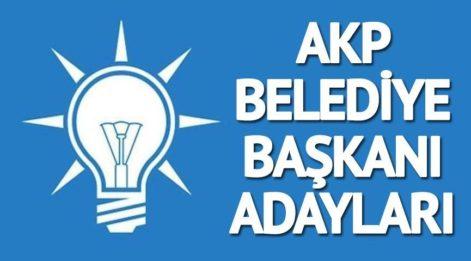 AKP'nin belediye başkanı adayları kimler oldu? İşte AKP'nin açıklanan belediye başkanı adayları tam liste...