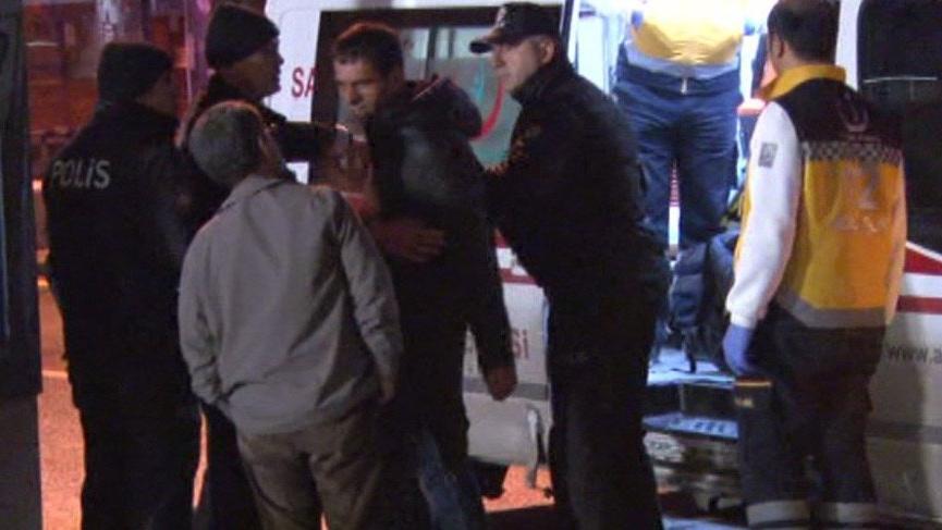 Ankara'da alkollü yaralı ekiplere zor anlar yaşattı