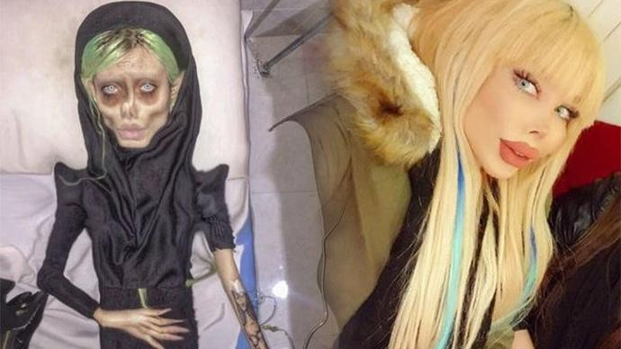 Zombi Angelina Jolie ile sahte Barbie bir arada