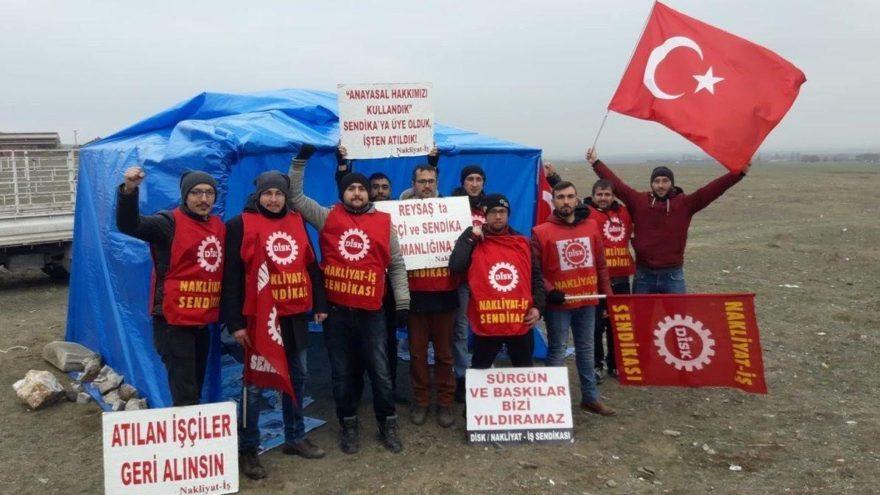 İşten çıkartılan işçilerin direnişi çadırda devam ediyor