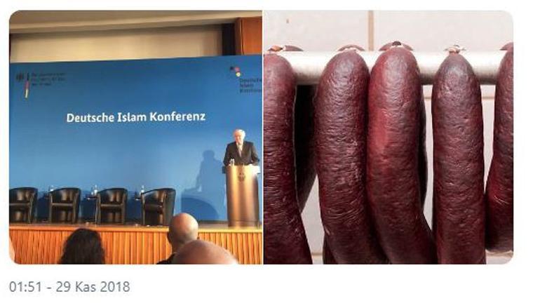 Almanya'da tepki çeken detay: İslam Konferansı'nda ikram domuz eti