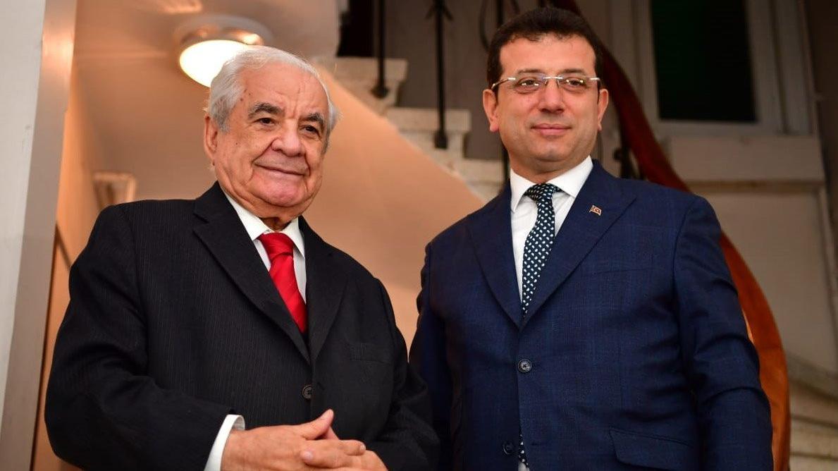 İmamoğlu'ndan eski başkanlara ziyaret