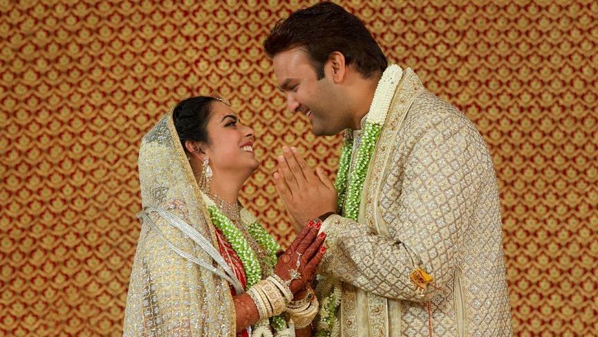 Isha Ambani ve Anand Piramal'ın düğünü nihayet bitti