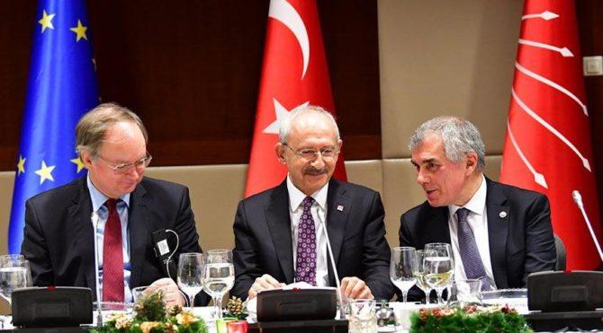 CHP Lideri Kılıçdaroğlu, AB büyükelçileri ile yemekte buluştu