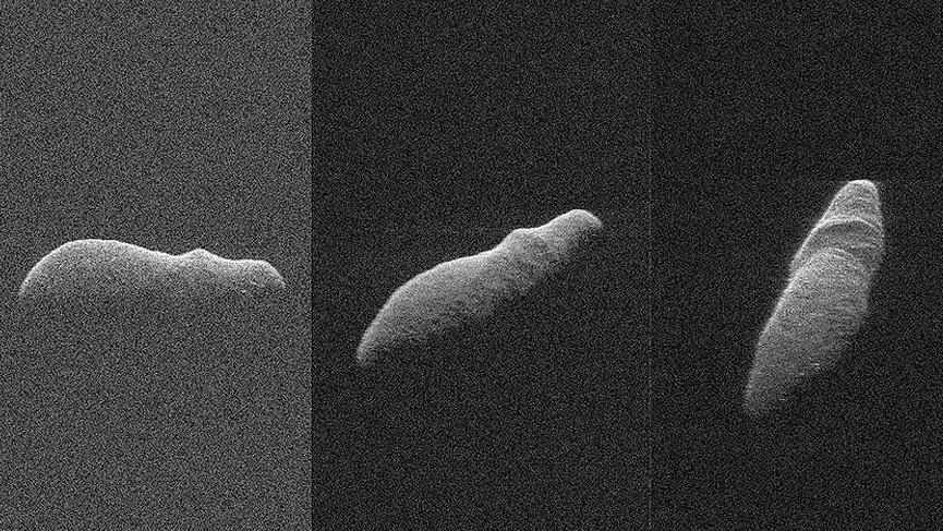 NASA dünyaya yaklaşan gök taşını görüntüledi
