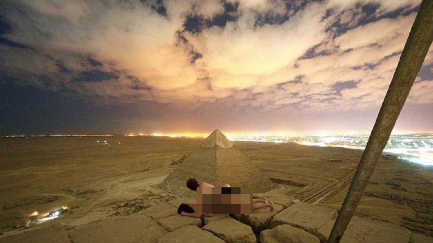 Piramitte cinsel ilişkiye girmişti... İki kişi gözaltına alındı
