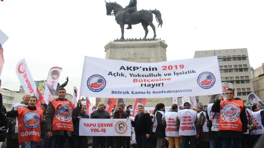 Sendikalar 2019 bütçesini protesto ettiler