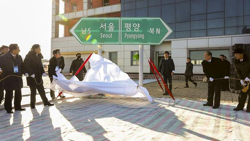 Kuzey ve Güney Kore tren hatlarıyla birleşiyor