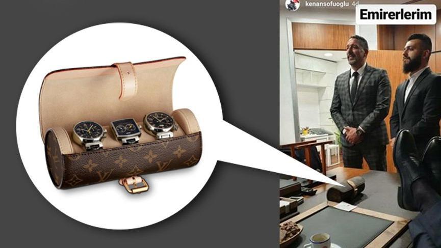 İşte Sofuoğlu'nun masasındaki 3.350 TL'lik saat kabı