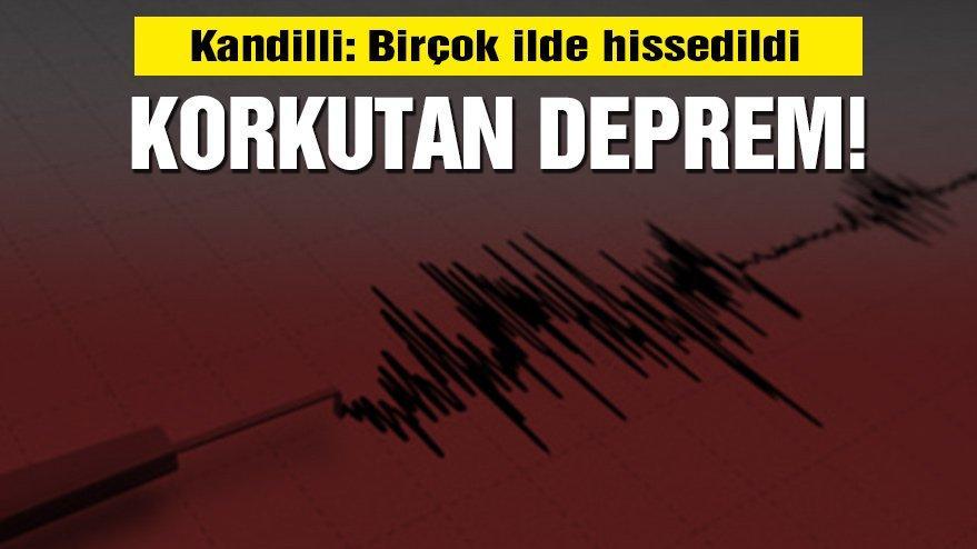 Kandilli'den son dakika deprem açıklaması: Marmara'yı sallayan deprem! Birçok ilde hissedildi! (İl il son depremler)