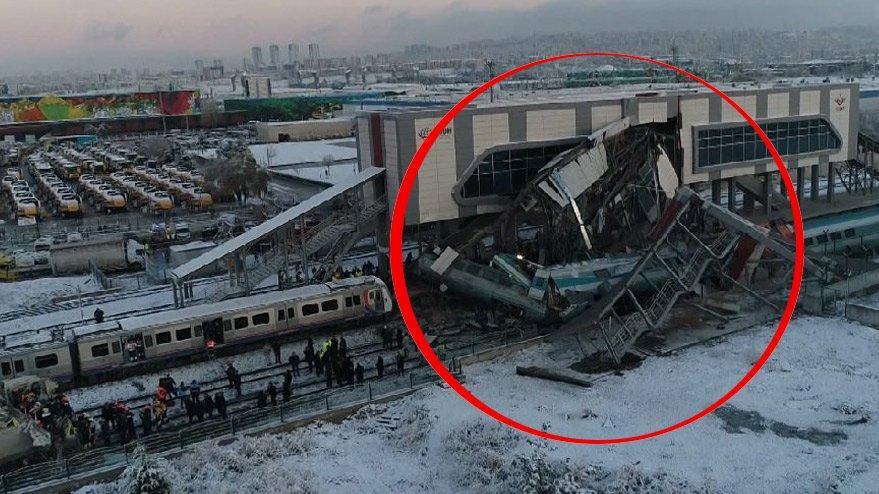 Ankara'da Yüksek Hızlı Tren kılavuz trenle çarpıştı! Dokuz kişi hayatını kaybetti, 47 yaralı var