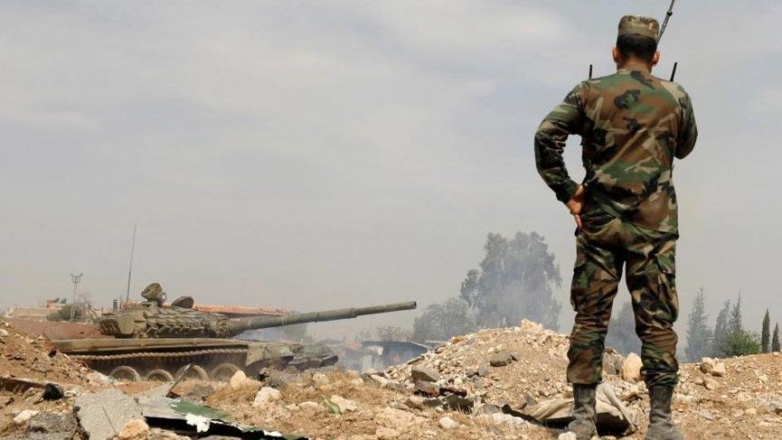 Esad güçleri Menbiç kırsalına girdi