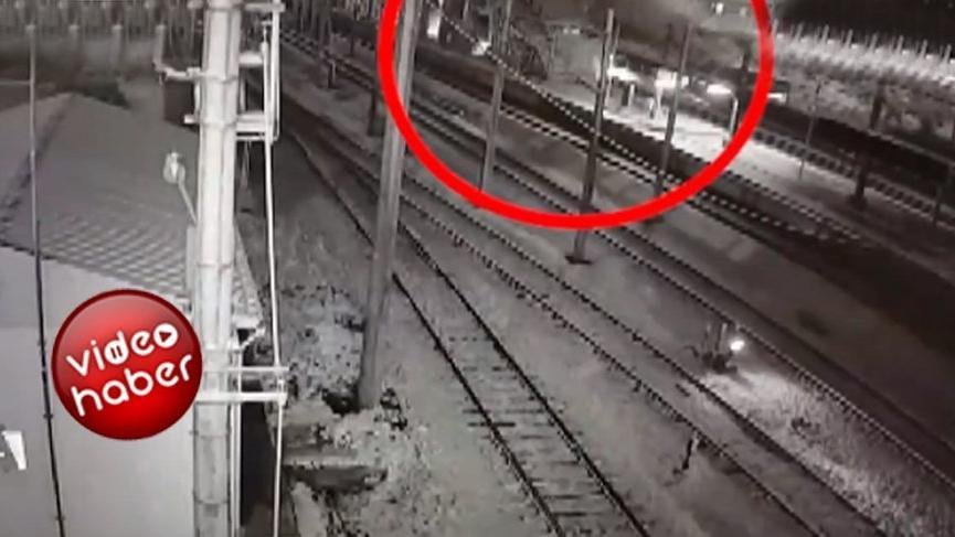 Ankara'daki tren kazası kameraya yansıdı! İşte o dehşet anı!