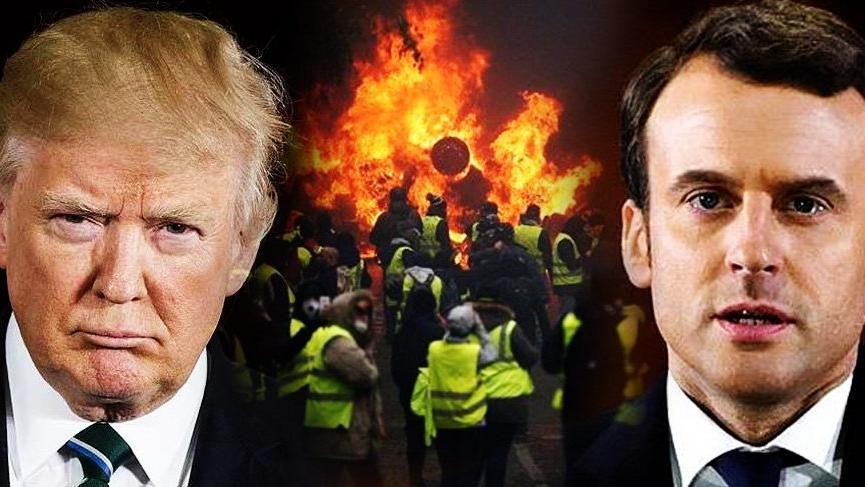 ABD Başkanı Trump'tan Paris protestoları açıklaması
