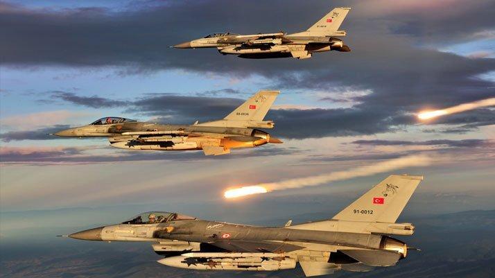 Irak'ın kuzeyine hava harekâtı: 5 terörist öldürüldü