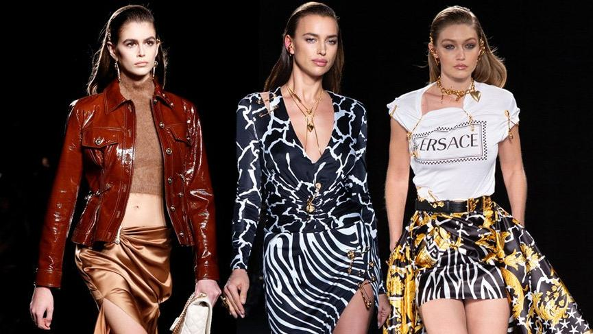 Versace satıştan sonra ilk defilesini gerçekleştirdi