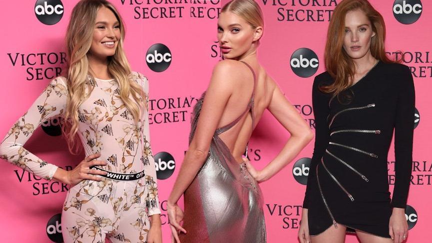 Victoria's Secret melekleri defileyi izlemek için bir araya geldi