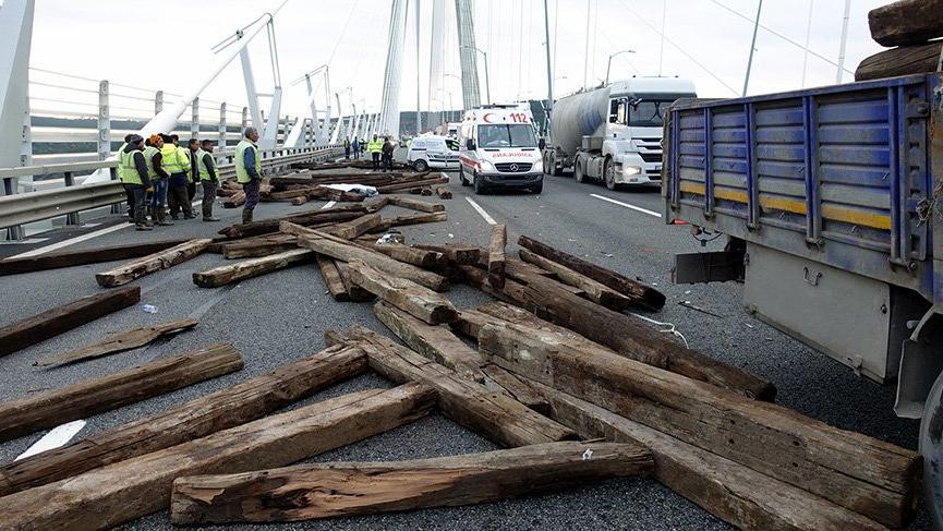 Yavuz Sultan Selim Köprüsü'nde kaza: bir ölü iki yaralı
