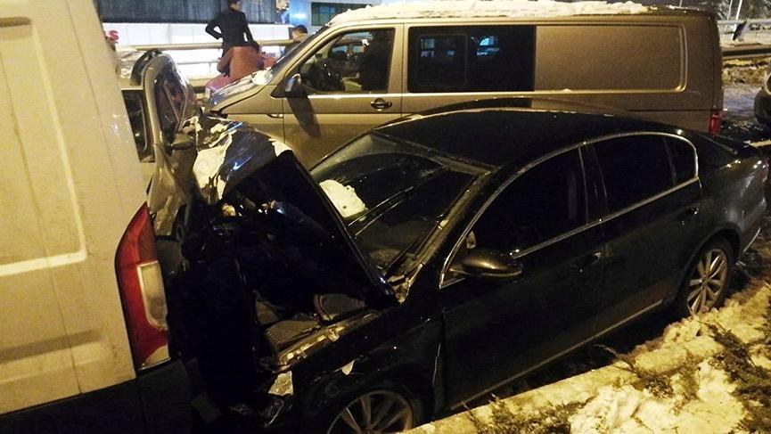 Zincirleme kaza! 28 araç birbirine girdi