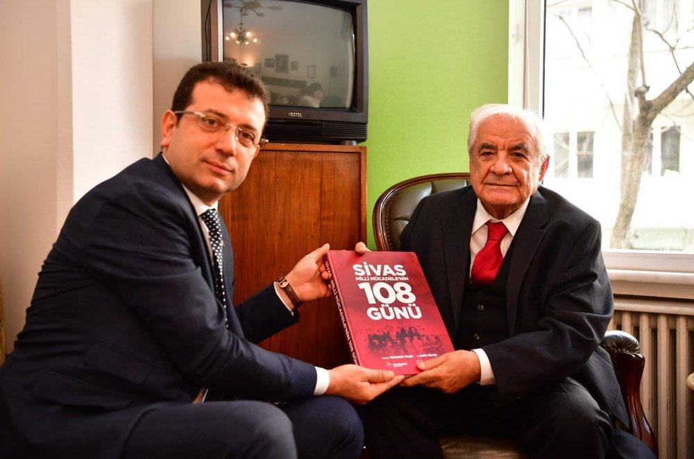 FOTO:SÖZCÜ - İmamoğlu, Bedrettin Dalan'ın ardından Nurettin Sözen'i ziyaret etti.