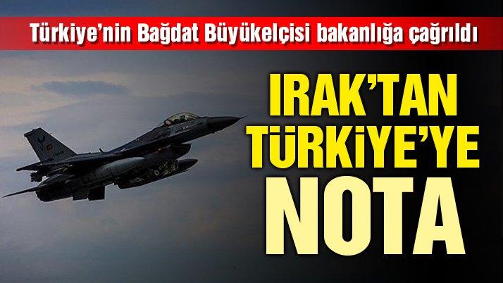 Son Dakika… Irak'tan Türkiye'ye NOTA
