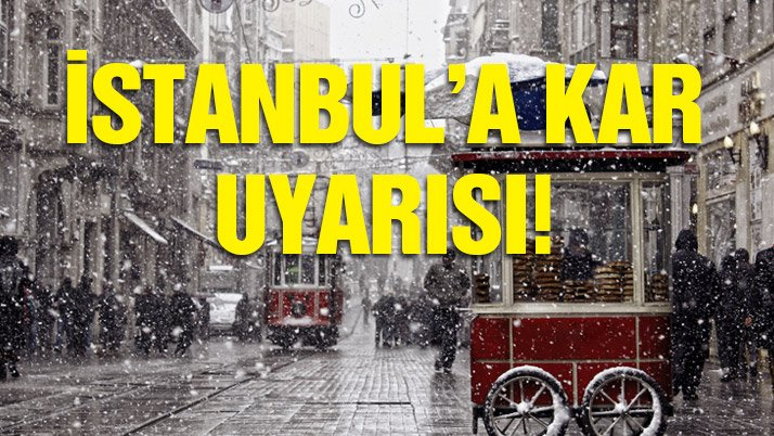 SON DAKİKA: İstanbul'a kar uyarısı! Yarına dikkat! İşte yurtta hava durumu...