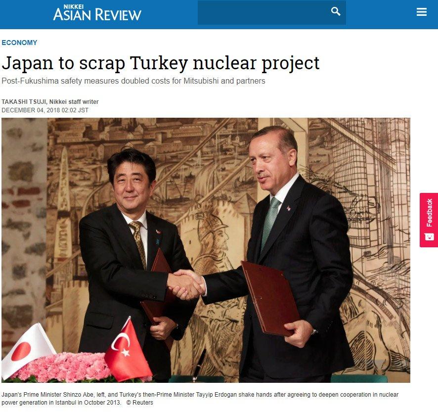 Japon Nikkei'de bulunan haber.