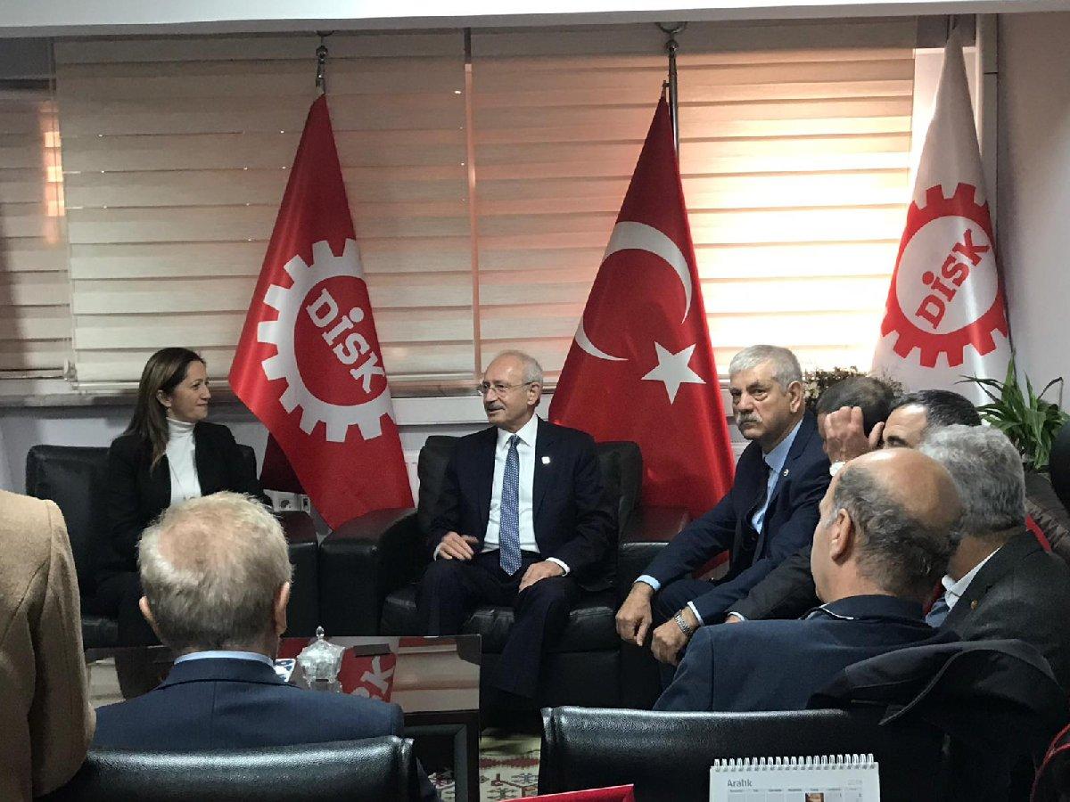 FOTO:SÖZCÜ - CHP lideri Kılıçdaroğlu, Ekrem İmamoğlu ile görüşmesinin ardından DİSK'i ziyaret etti.