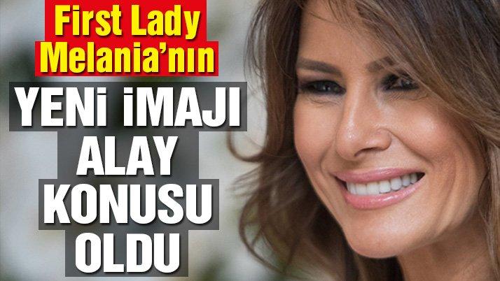 First Lady Melania'nın yeni imajı alay konusu oldu