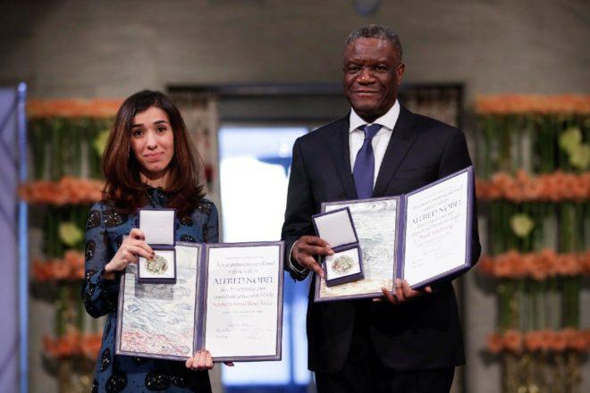 Nadia Murad ve Dr. Denis Mukwege Nobel Barış Ödülü'nü 10 Aralık'ta İsveç'te düzenlenen törenle aldılar.