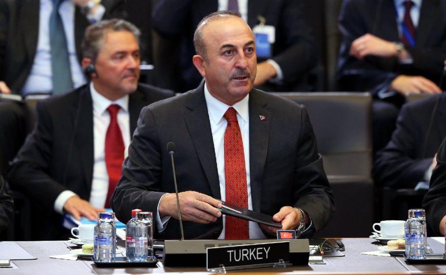 Dışişleri Bakanı Çavuşoğlu da toplantıya katıldı. AA