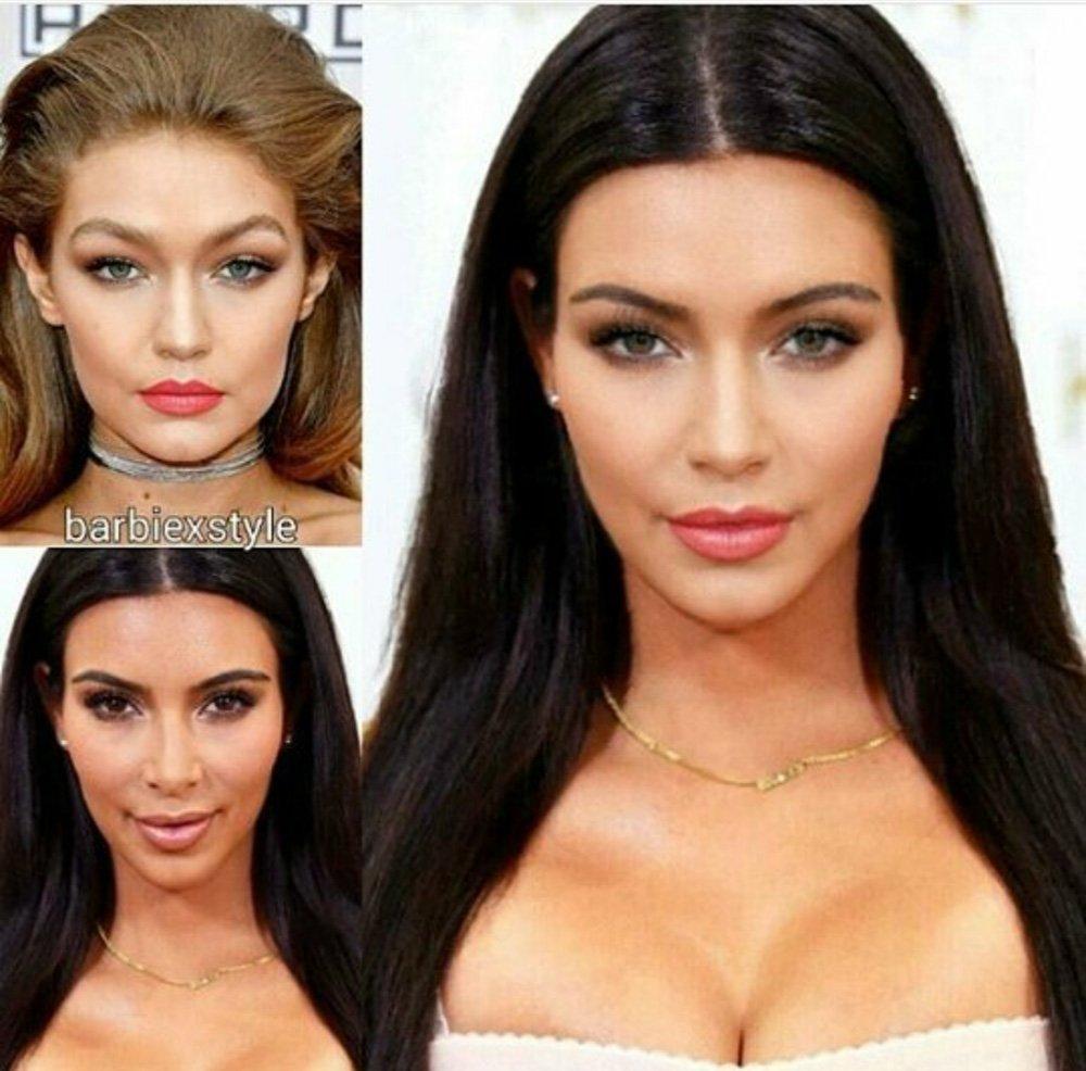 Gigi Hadid Kim Kardashian