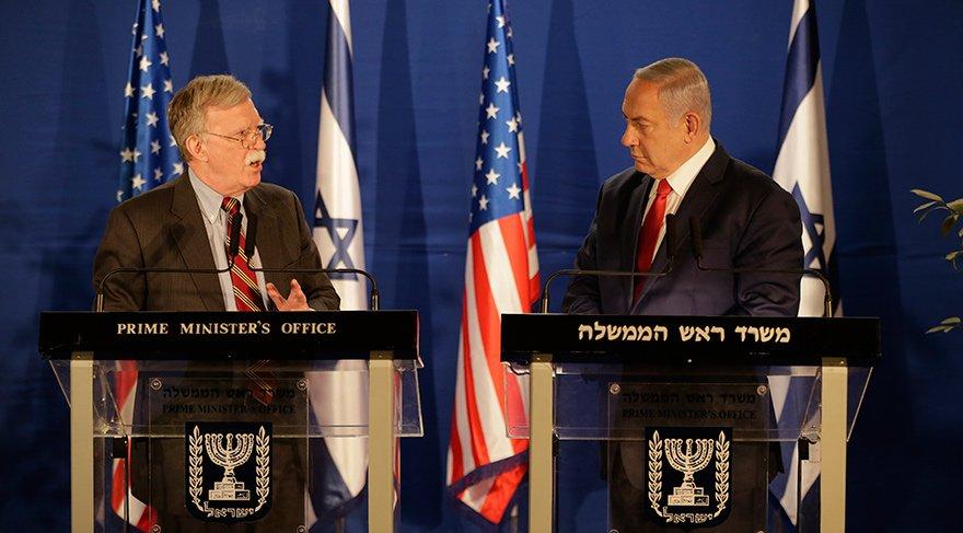 Trump'ın danışmanı John Bolton ile İsrail Başbakanı Benyamin Netanyahu 7 Ocak'ta Kudüs'teki Başbakanlık Ofisi'nde ortak basın toplantısı düzenlemişti.
