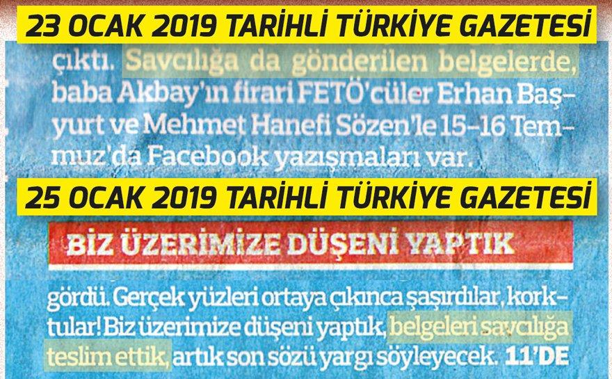 Türkiye, 23 Ocak'ta 'savcılığa gönderilen belgelerde' dedi. 25 Ocak'ta ise 'belgeleri savcılığa teslim ettik' diye yazdı.