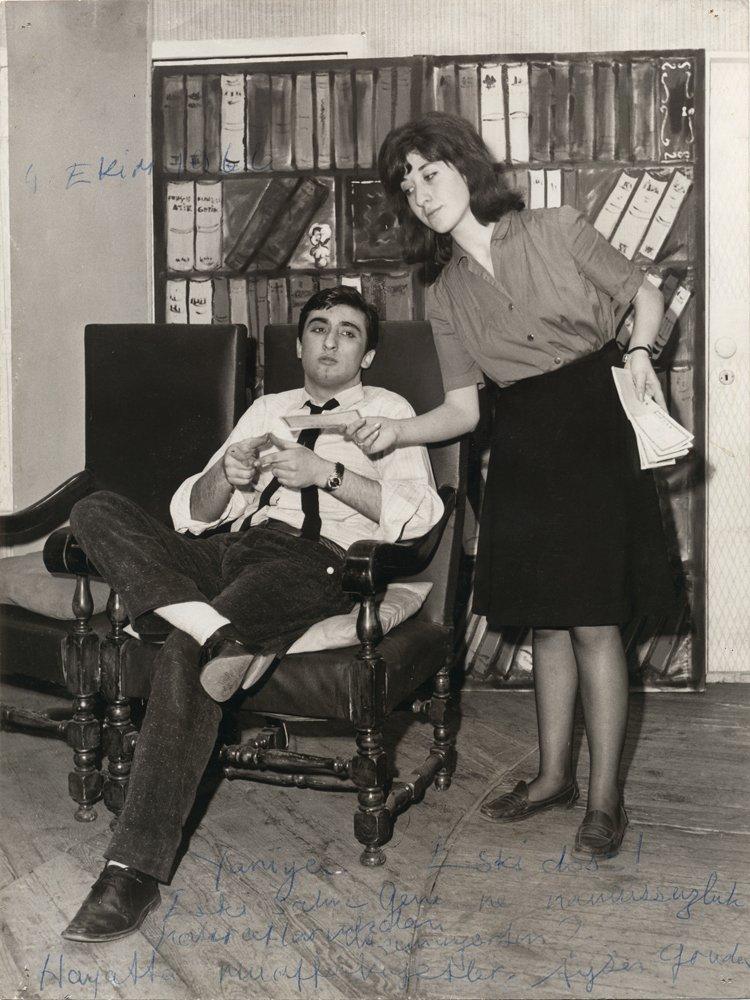 Ayşen Gruda ve Müjdat Gezen... Yıl 1963
