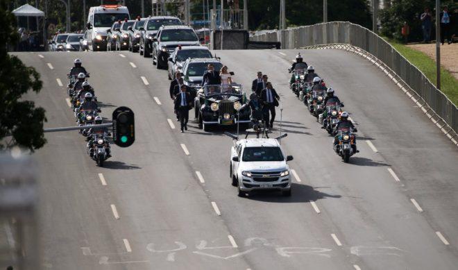 Bolsonaro'nun geçit töreni.