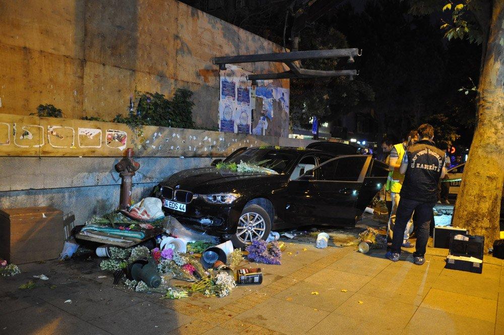 FOTO:İHA Murathan Öztürk çiçekçi Mehmet Emin Kaya'ya 11 Temmuz 2015 tarihinde otomobiliyle çarparak, ölümüne neden oldu.