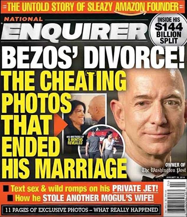 Enquirer, çiftin birbirlerine cinsel içerikli mesajlar gönderdiğini ve bunları yayınlama kararı aldığını duyurdu.