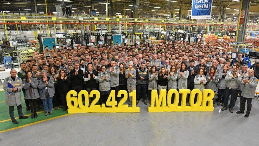 Oyak Renault rekor sayıda motor üretti!