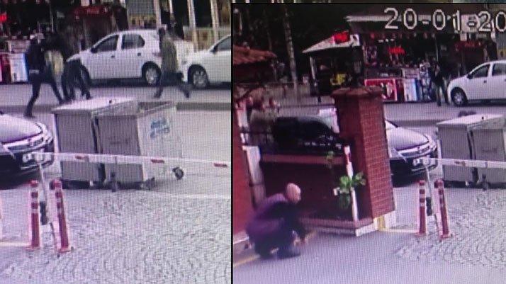 İstanbul'da sokak ortasındaki çatışma kamerada