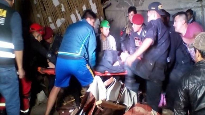 Peru'da otel duvarı çöktü: 15 ölü