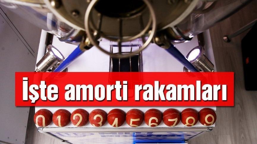 Amorti hangi numaralara çıktı?