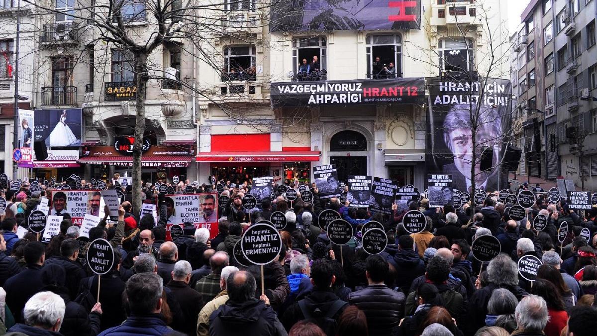 Hrant Dink, katledildiği yerde anıldı
