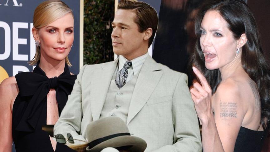 Angelina Jolie ve Charlize Theron'un düşmanlığına Brad Pitt tuz biber oldu!